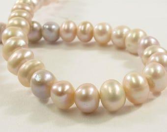 9-10 mm AA Natural Pink Potato Freshwater Pearl Beads, Genuine Pearl Beads, High Luster Pink Freshwater Pearls, Natural Pearl (571-PPK0910)