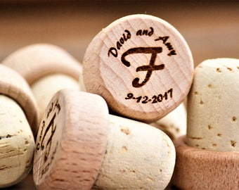 Wine Stopper Wedding Favors, Rustic Wine Stoppers, Cheap Wine Stoppers, Monogram Wine Stopper, Custom Engraved Wine Stopper