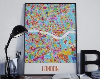 London Map London Watercolor London Travel Map London Street Map London Map Poster London Map Photo London Map Print London Map Art London