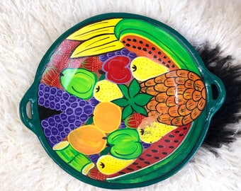 Vintage Clay Mexican Fruit Bowl