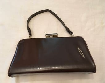Vintage Brown Patent Leather Bag