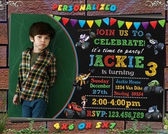 Blaze Birthday Invitation Printable, Blaze Invitation, Blaze Birthday Party Invites, Blaze and the Monster Machines