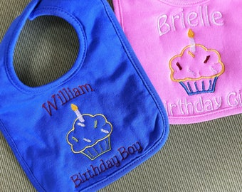 Birthday Boy or Girl Personalized baby bib