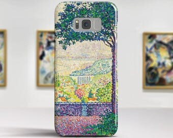 """Paul Signac, """"Terrace in Meudon"""".Samsung Galaxy S7 Case LG G6 case Huawei P10 Case Galaxy J5 2017 Case and more. Art phone cases."""