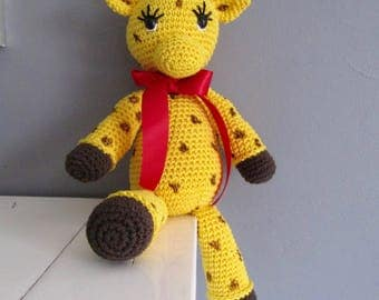 all cotton crochet giraffe