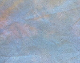Hand-Dyed 25-Count Opal Lugana Evenweave, Cross Stitch Fabric, Pixie Dust Colorway