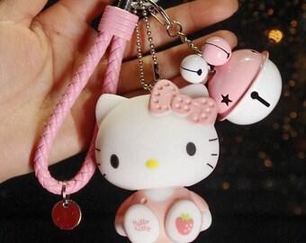 hello kitty keychain, keychains , hello kitty key ring