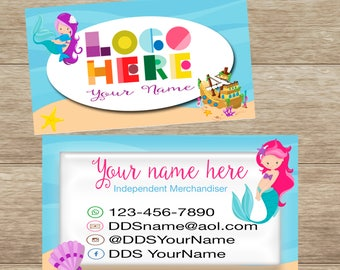 Mermaid Business Card, Customized, Digital Download, Personalized, Printable DotDotSmile