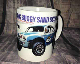 Sand Scorcher Coffee Mug with optional Keychain, gift for RC lover, RC Car Coffee Mug, Gift for Him, Radio Controlled Car Mug, RC car gift