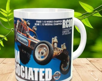 RC 10 Coffee Mug with optional Keychain, gift for RC lover, RC Car Coffee Mug, Gift for Him, Radio Controlled Car Mug, car lover gift