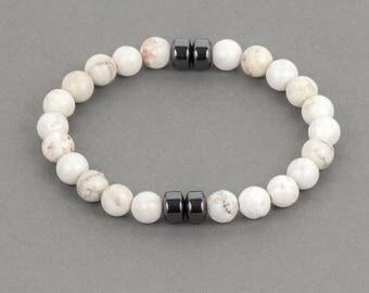 Ivory Howlite Men's Bracelet