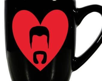 Abraham Walking Dead Valentine's Day Love Heart Horror Mug Coffee Cup Gift Home Decor Kitchen Halloween Bar