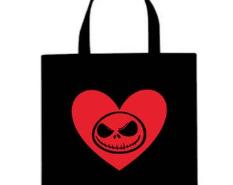 Nightmare Before Christmas Jack Skellington Canvas Tote Bag Market Pouch Grocery Reusable Halloween Merch Massacre Black Friday Christmas