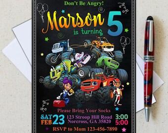 Blaze and the Monster Machines Invitation/Blaze Invitation/ Blaze Birthday/Blaze and The Monster/Monster Truck Invites/Truck Printables
