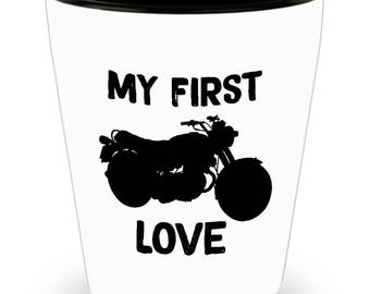 Laverda 750GT 1975 My First Love Motorcycle  - SET OF 3: 1.5 oz Ceramic Shot Glass Made In The USA