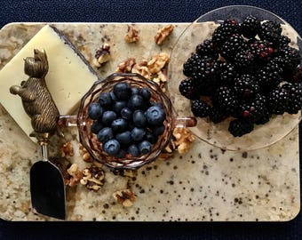 camille i - limited edition stone serving tray