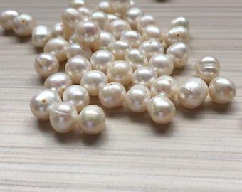 """15"""" strnad White natural Akoya pearls"""