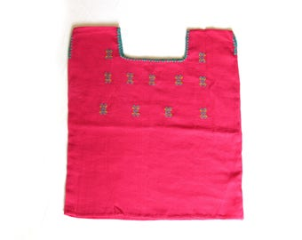 pink baby clothes / mexican girl blouse embroidery