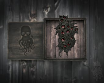 "Wooden brooch ""Shoggoth"""