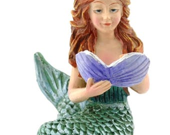 Miniature Fairy Garden Reading Mermaid