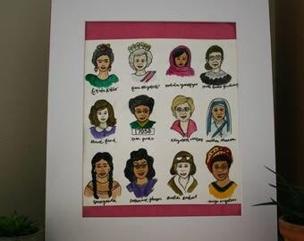 Inspirational Women Watercolor
