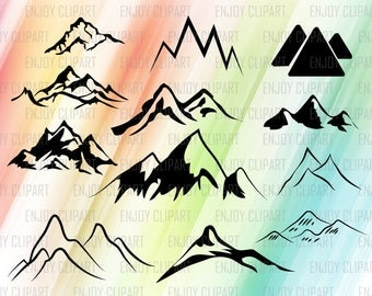 Mountain Svg, Mountain Clipart, Mountain Decal, Mountain Art, Commercial Use Svg, Silhouette Cut Files, Cricut Designs, Svg Designs, Dxf