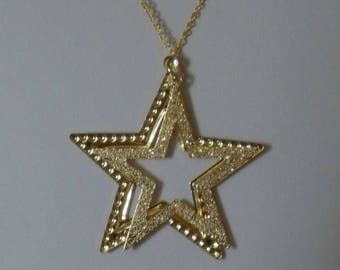 Gold Star Necklace,Star Necklace,Multi Star Necklace,Star Pendant, Gold Star Pendant,Star Jewelry