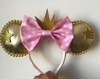 Gold and pink Ears