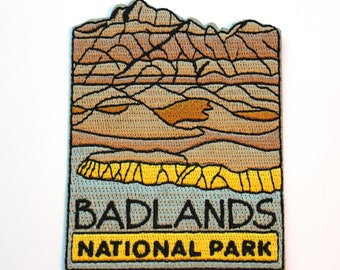 Official Badlands National Park Souvenir Patch South Dakota Scrapbooking FREE SHIPPING