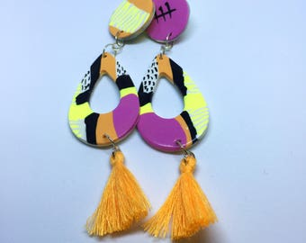 Handmade Abstract Drop Earring Style