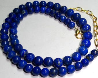 Natural Lapis Lazuli Gemstone Balls Strands Necklace 5 to 9 mm 200 Cts. MGJ 45