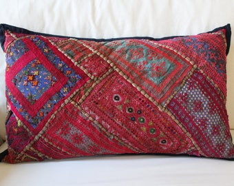 Large Vintage Indian Embroidered Pillowcase