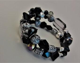 Black Magic wrap bracelet