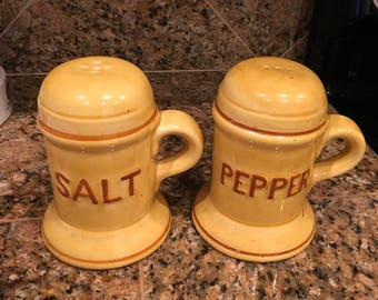 Vintage LARGE Ceramic Salt & Pepper Shakers