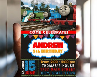 Thomas the Train Birthday, Thomas the Train Birthday Invitations, Thomas the Train Invitation, Thomas the Train Party