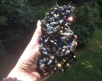 Titanium Aura Quartz Crystal Cluster