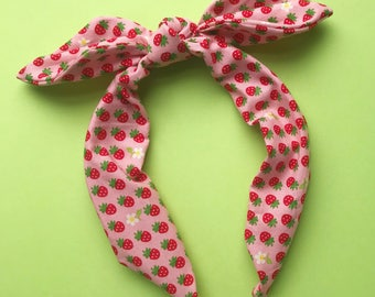 Strawberry Blossom Headband