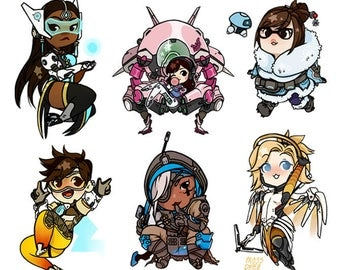 Overwatch Double-sided Acrylic Charms