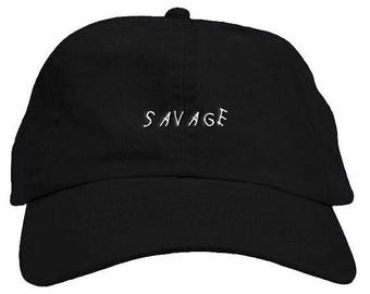 Savage Dad Embroidered Baseball Cap 6 Panel Fashion Hat Tumblr Pintrest Trends