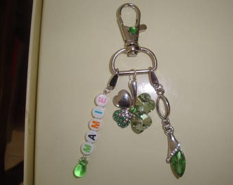 clover Keychain lucky Grandma