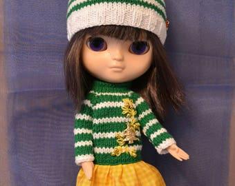 Blythe SET: Blythe Hat and Blythe Sweater, Blythe Clothes, Blythe Clothing, Blythe Outfit, Blythe Christmas Outfit, Blythe