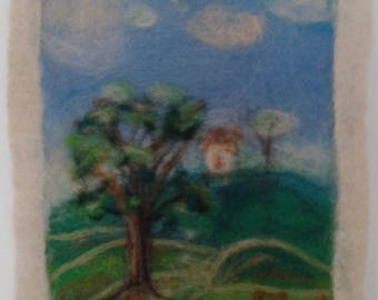 felting paintings Needle Felting Аuthor's work