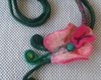 Felted necklace Author's work