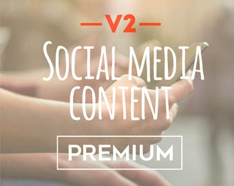 Version two social media content premium package social media planner social media marketing digital marketing social media optimization