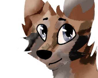 Lineless head shot (comes with shading )