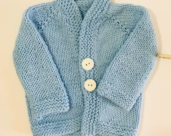 Vintage HandCrochet Baby Blue Sweater