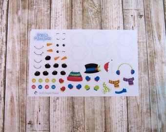 Build A Snowman Stickers, Build Your Own Snowman Stickers, Snowman stickers