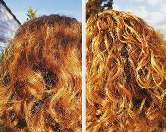 Simply Hair Gel- Organic, Curl Defining Gel, Natural Curls, Moisturizing Gel, Naturally Curly, Wavy Hair, Low Allergen, Flax Seed,8.4 oz