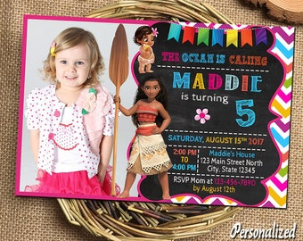 Moana Invitation Moana Birthday Moana Birthday Invitations Moana Party Moana Printable Moana Invitations Moana Birthday Card Moana Invites