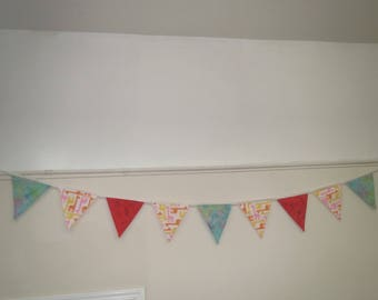 Colorful Fabric Bunting/ Kid's Party Decoration/